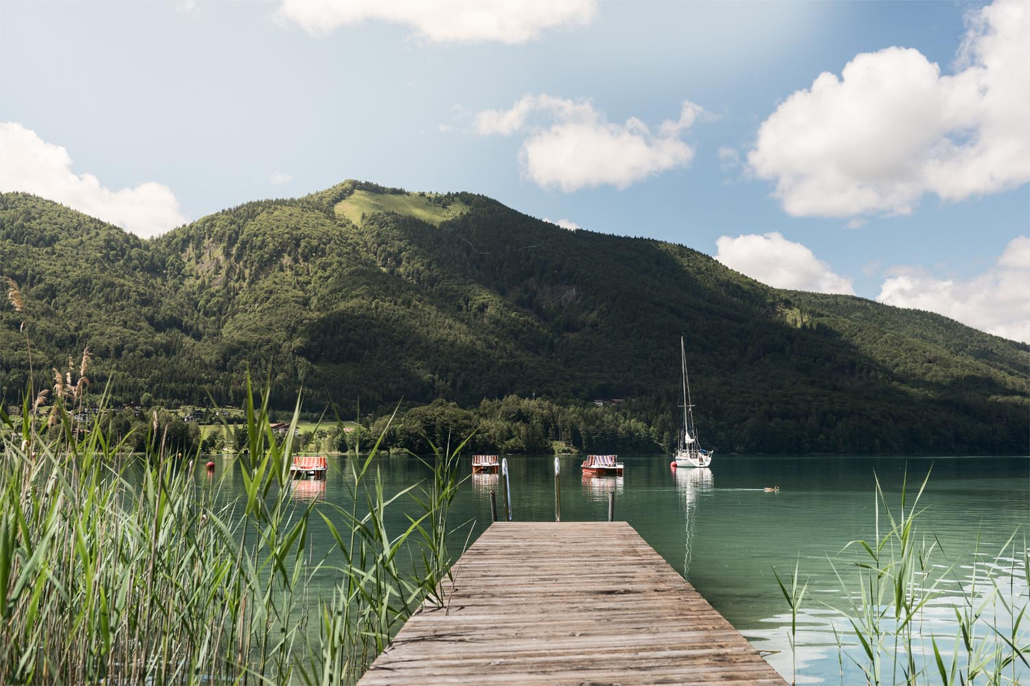 Steg des Kinderhotels in Fuschl am See